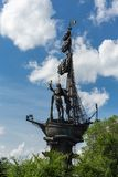 Monument zum russischen Zar Peter der Große auf einem Überbrückungskanal O stockbild