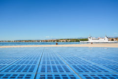 Monument zum Sun, Zadar/Kroatien Stockfotografie