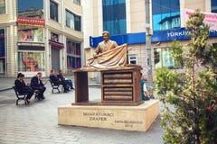 Monument zum Textilkaufmann in Istanbul Lizenzfreie Stockbilder