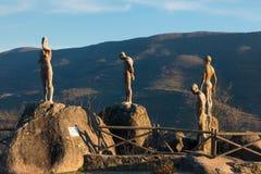 Monument zum vergessenen Bürgerkrieg und zur Diktatur stockfotos