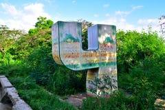 Monument, zum 4 zu nummerieren Stockfoto