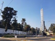 Monument zur Flagge von Mexiko, am Eingang der Stadt von Toluca lizenzfreies stockfoto