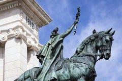 Monument zur Konstitution von 1812, dekoratives Detail Stockbild