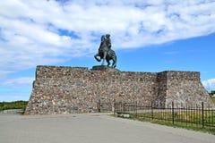 Monument zur russischen Kaiserin Elizabeth Petrovna Stadt Baltiysk, bis 1946 Pillau, Russland Lizenzfreie Stockfotografie