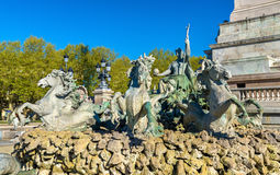 Monument Zusatz-Girondins auf dem Quinconces-Quadrat im Bordeaux - Frankreich lizenzfreie stockfotos