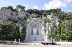 Monument Zusatz-Morts de Rauba- Capeu von Nizza auf französischem Riviera stockfoto