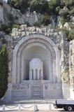 Monument Zusatz-Morts de Rauba- Capeu von Nizza auf französischem Riviera stockbilder