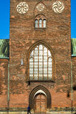 Monumental Aarhus Cathedral - entrance Stock Image