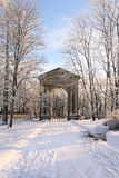 The monumental Admiralty Gate in Gatchina Palace Park, near Pete Royalty Free Stock Images