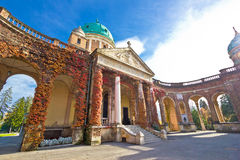 Monumental arcades of Mirogoy cemetary. Of Zagreb, Croatia Royalty Free Stock Photo
