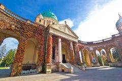 Monumental arcades of Mirogoy cemetary Royalty Free Stock Photo