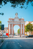 Monumental Arch dedicated to Pope Clement XIV in Santarcangelo, Italy Stock Image