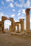 The monumental arch Palmyra. Palmyra, in the middle of the Syrian Desert is one of the most beautiful and magnificent of the Syrian historic sites. This Arab Royalty Free Stock Photography