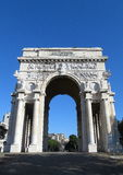 Monumental arch of victory in genoa Stock Photography