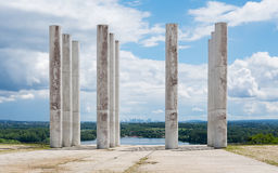 Cergy - Monumental architecture. The major axis is a monumental work located in Cergy, Val-d'Oise, France. The work is part of a loop of the Oise, in the center Stock Image