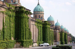 Monumental architecture of Mirogoj cemetery arcades in Zagreb Stock Photography