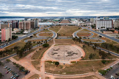 Monumental Axis in Brasilia Brazil Royalty Free Stock Image