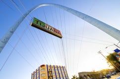Monumental båge, Tijuana, Mexico Fotografering för Bildbyråer