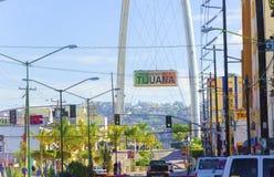 Monumental båge, Tijuana, Mexico Arkivfoto