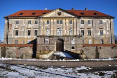 Monumental Baroque-Classicist manor house .Holíč manor house,Slovakia. Historical object Stock Images