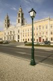 Monumental Baroque Royal Palace of Mafra, Portugal, built in 1717 Stock Photography