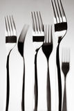 Monumental black and white still life with forks, kitchen art, Fork Art Royalty Free Stock Photography