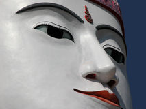 Monumental Buddha. One of 4 back to back monumental sitting buddhas in Bago, Myanmar...detail of face Royalty Free Stock Photos