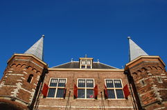 Monumental building in Amsterdam royalty free stock images