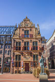 Monumental building in the historical center of Groningen Stock Image