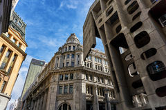 Monumental building with modernistic architecture Royalty Free Stock Photography
