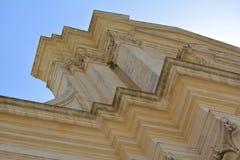 Monumental building in Victoria. Citadella in Victoria (Ir-Rabat Għawdex) on Gozo Island, ornamental historical building Royalty Free Stock Images