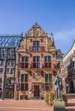 Monumental byggnad i den historiska mitten av Groningen Fotografering för Bildbyråer