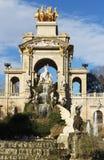 Monumental cascading fountain in the Park Ciutadella, Barcelona, Spain. Stock Photos