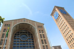 The monumental Cathedral of Aparecida do Norte Royalty Free Stock Photography