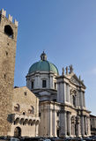 Monumental cathedral square, brescia Royalty Free Stock Photos