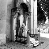 Monumental cemetery. Ancient monumental cemetery in Cagliari, Italy Royalty Free Stock Images