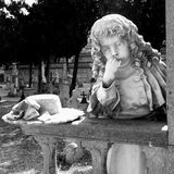 Monumental cemetery. Ancient monumental cemetery in Cagliari, Italy Stock Image