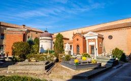 The Monumental Cemetery of Certosa - Ferrara. Italy Royalty Free Stock Photos
