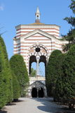 Monumental Cemetery of Milan. Boulevard along the Monumental Cemetery of Milan, Italy Stock Image