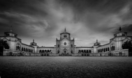 Monumental cemetery of milan main entrance view royalty free stock image