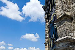 Monumental church klok 1600 with copy space Royalty Free Stock Photo