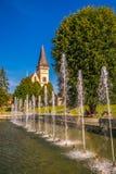 Monumental Church of St. Aegidius in Bardejov old city center. Stock Photos