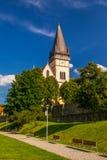 Monumental Church of St. Aegidius in Bardejov old city center Stock Photography