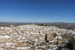 Monumental city of Antequera in the province of Malaga, Andalusia. View of the monumental city of Antequera churches and convents in the province of malaga Royalty Free Stock Photos