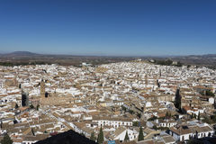 Monumental city of Antequera in the province of Malaga, Andalusia. View of the monumental city of Antequera churches and convents in the province of malaga Stock Photos