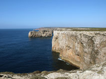 Monumental cliff coast near Cape St  Vincent Stock Photo