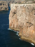 Monumental cliff coast near Cape St  Vincent Royalty Free Stock Photo