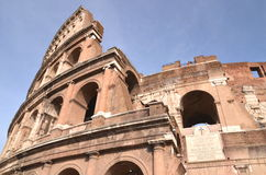 Monumental Colosseum in Rome against blue sky, Italy Royalty Free Stock Image