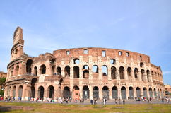 Monumental Colosseum in Rome against blue sky, Italy Stock Photos