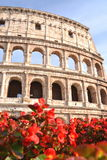 Monumental Colosseum in Rome against blue sky, Italy Stock Image
